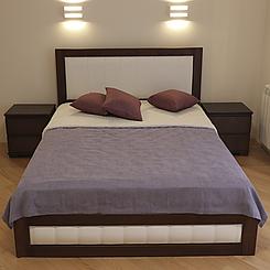 Ліжко дерев'яне двоспальне Амелія з підйомним механізмом (масив бука)
