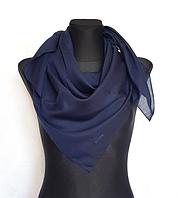 Легка однокольорова хустка Eripek Мерілін 95*95 см темно-синій