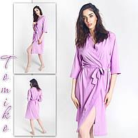 Халат шёлковый кимоно лиловый. Размеры 42-50., фото 1
