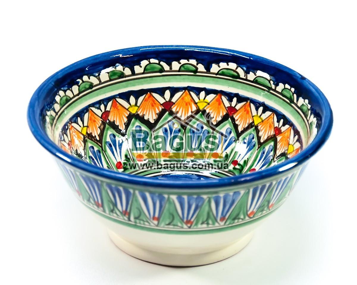 Салатник узбецький (глибока тарілка супова миска узбецька) діаметр 18см висота 8см ручна робота 1808-05