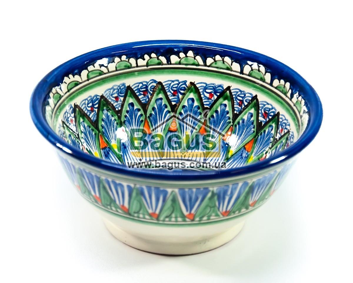 Салатник узбецький (глибока тарілка супова миска узбецька) 850мл, d-18см h-8см ручна робота 1808-08