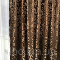 Комплект штор для спальні залу будинку, ламбрекен для спальні, штори з ламбрекеном для кухні спальні дитячої, штори в зал ALBO з, фото 8