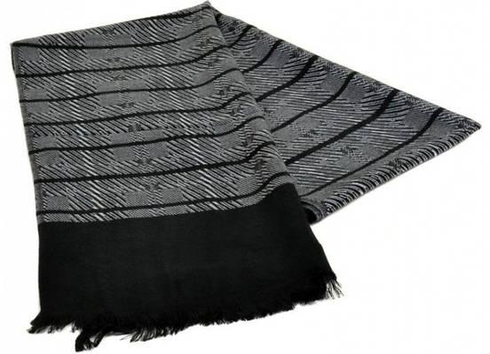 Мужской шерстяной шарф 180 на 43 см 50149-7 серый