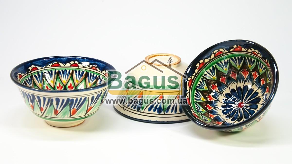 Набір піал узбецьких 3шт. 230мл 11х5,5см ручна робота 1155-04