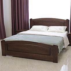 Ліжко дерев'яне двоспальне Едель з підйомним механізмом (масив бука)