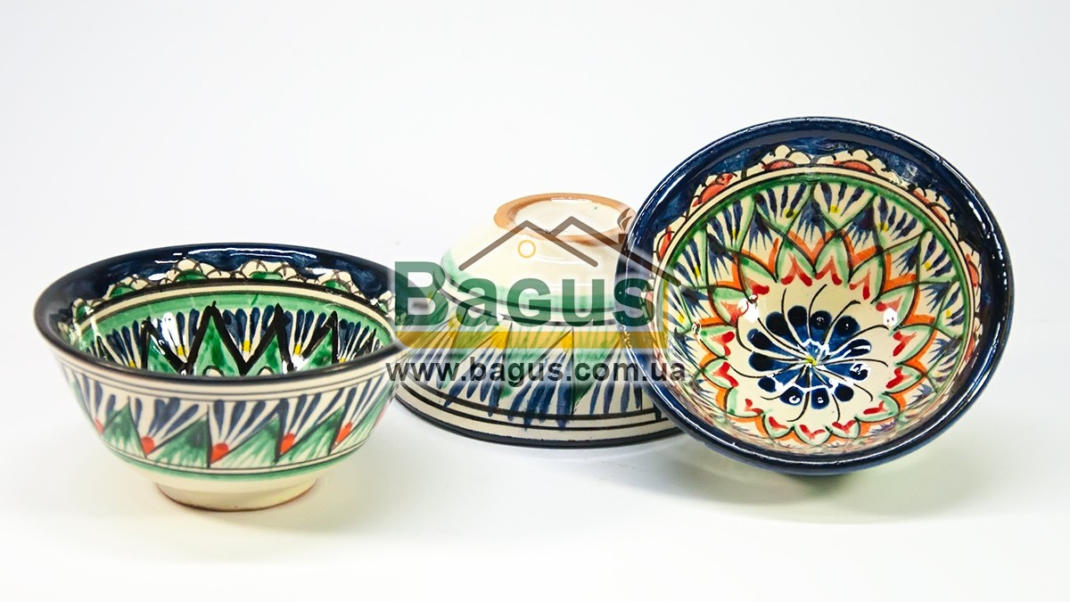 Набір піал узбецьких 3шт. 230мл 11х5,5см ручна робота 1155-05