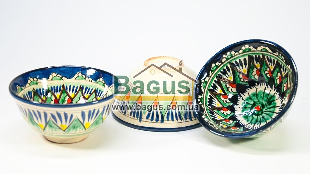 Набор пиал узбекских 3шт. 230мл 11х5,5см  ручная работа 1155-10