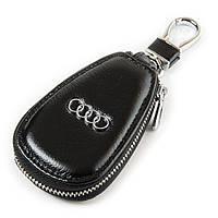Ключница кожаная черная Audi