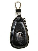 Ключница кожаная черная Honda