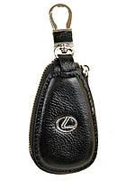 Ключница кожаная черная Lexus