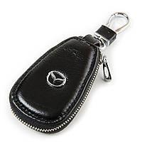 Ключница кожаная черная Mazda