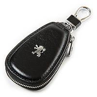 Ключница кожаная черная Peugeot
