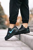 Черные кроссовки Nike Air Force 1 07Lv8 Ultra Black/Blu для девушек. Женская обувь черного цвета Найк Аир Форс