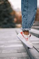 Кожаные кроссовки Nike Air Force 1 Shadow Phantom для девушек Женская обувь бежевого цвета Найк Аир Форс Шедоу