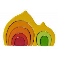 Конструктор nic деревянный Дом Габли желтый (NIC523022)