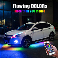Светодиодная подсветка днища авто Bluetooth APP управление через Android/IOS 120х90 см