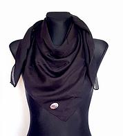 Легка однокольорова хустка Eripek Мерілін 95*95 см чорний