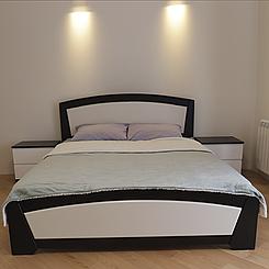 Ліжко дерев'яне двоспальне Женева з підйомним механізмом (масив бука)