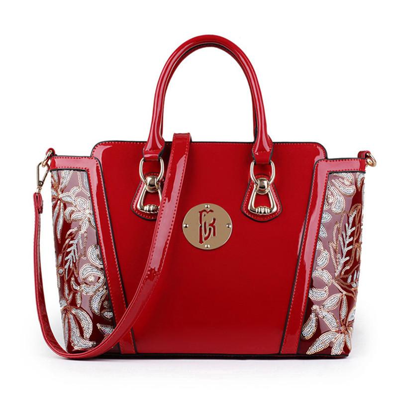 Стильная женская лаковая сумка. Модель 05267