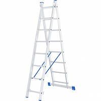 Лестница 2 х 8 ступеней алюминиевая двухсекционная Сибртех 97908