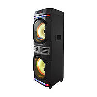 Колонка акумуляторна ProAudio BM 100 Leisound partybox c радіомікрофоном (USB/BT/FM/)
