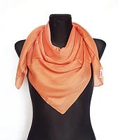 Легка однокольорова хустка Eripek Мерілін 95*95 см помаранчевий