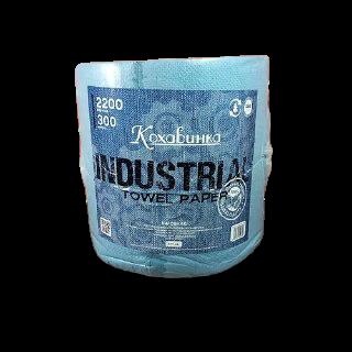 """Бумажные полотенца """"Кохавинка"""" на втулке отрывные 280х270мм, 2200 отрывов, 300 м. синие"""