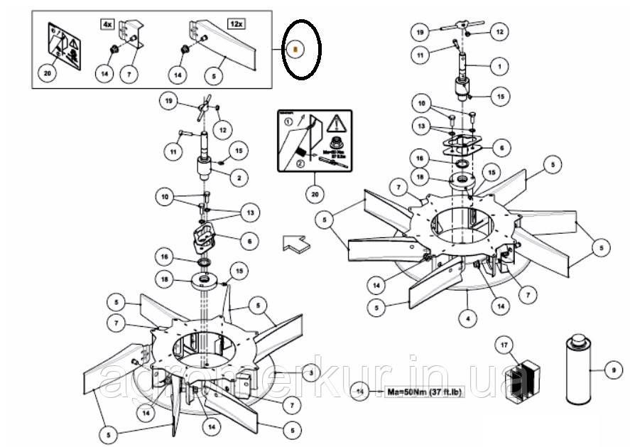 Комплект лопаток A138613630 Kverneland