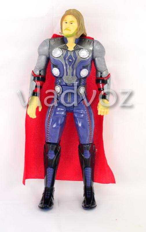 Фигурка героя Тор в плаще большая синяя 32см.