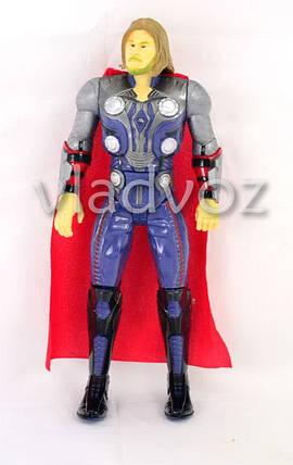 Фигурка героя Тор в плаще большая синяя 32см., фото 2