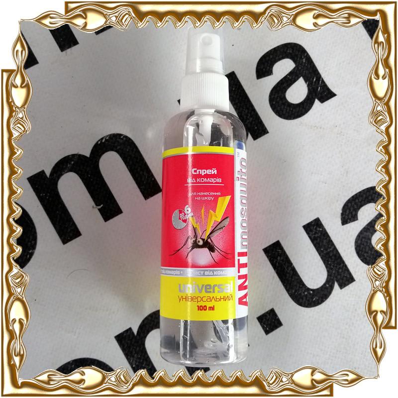 Спрей-захист ANTImosquito Universal для нанесення на шкіру від комарів 100 мл./6 год.