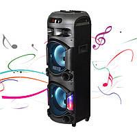 Колонка акумуляторна Leisound BM200 partybox c радіомікрофоном (200W/USB/BT/FM/)