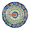 Тарілка узбецька плоска 22х4см, ручна розпис (варіант 2)