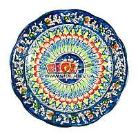 Тарілка узбецька плоска 22х4см, ручна розпис (варіант 2), фото 1