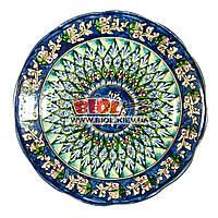 Тарелка узбекская плоская 22х4см, ручная роспись (вариант 8), фото 1