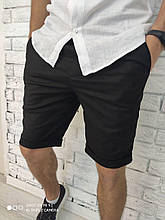Мужские шорты льняные черные Турция О Д