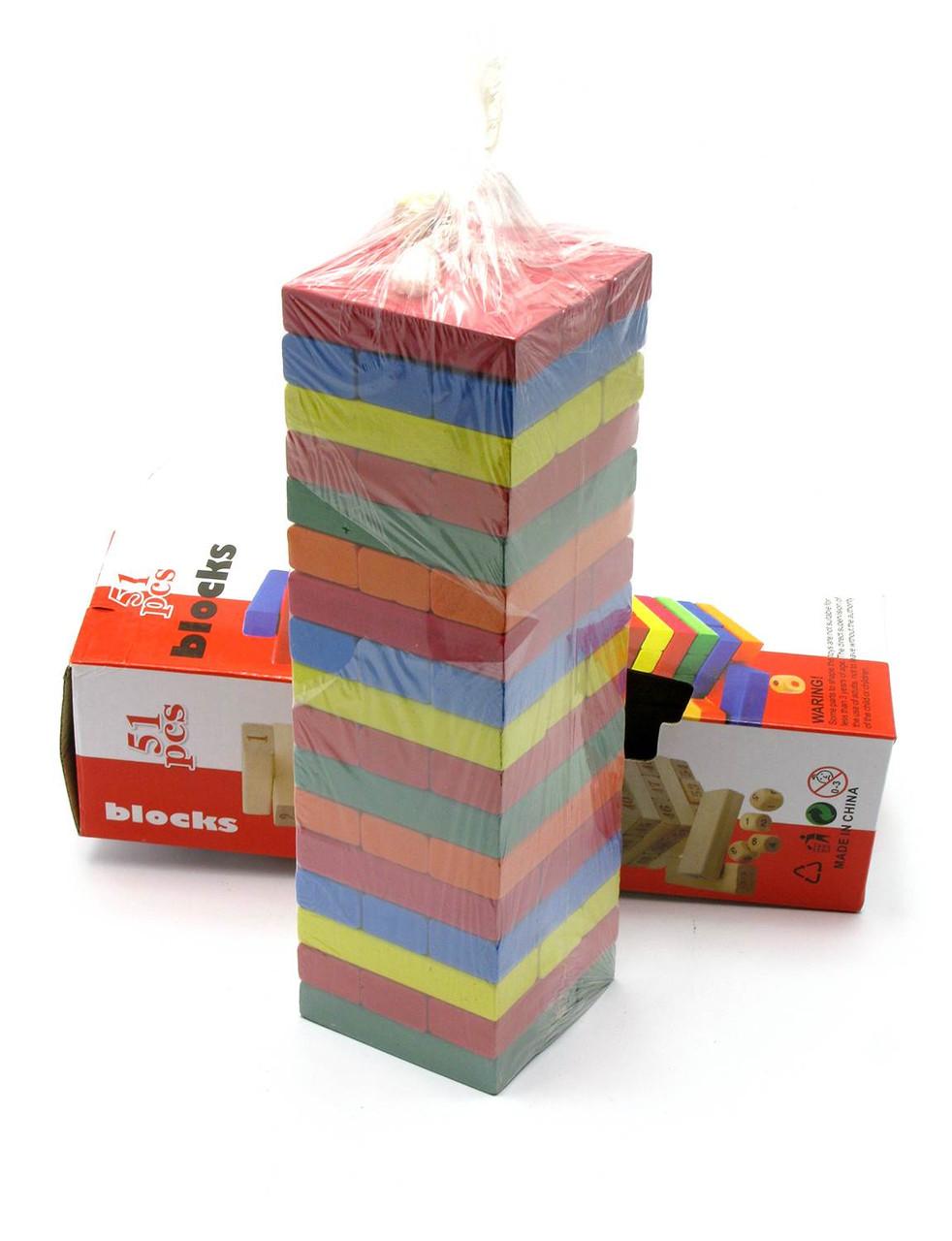 Башня Дженга Jenga - Цветная 48 брусков