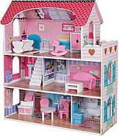 Кукольный домик игровой.Домик для кукол.Деревянный кукольный домик.