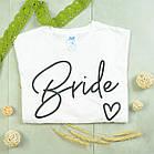 """Футболки с принтом на девичник """"Bride / Team Bride"""", фото 2"""