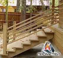 Лестница деревянная заказать по хорошей цене от производителя