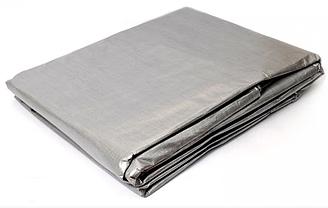 Тент полипропиленовый 2х3м 100г/кв.м усиленный водостойкий у/ф защита люверсы, серый