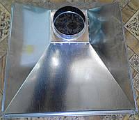 Зонт вытяжной из оцинковки 4-х скатный, 600*600 / Ø 125