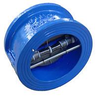 Клапан 19ч21р диаметр 100 двухстворчатый