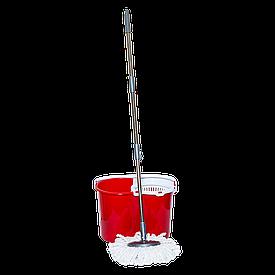Швабра и ведро с отжимом 20 л (набор) Magic красный