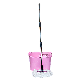 Швабра и ведро с отжимом 20 л (набор) Magic розовый