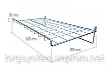 Полка сетчатая для торговой сетки ХРОМ
