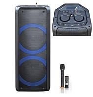 Колонка аккумуляторная ProAudio SG-X3 c радиомикрофоном (120W/USB/BT/FM/TWS), фото 1
