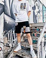 Футболка мужская ОВЕРСАЙЗ рефлектив летняя Slin белая | Мужская футболка хлопковая ЛЮКС качества