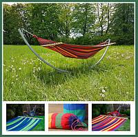Гамак подвесной тканевый с планкой, гамак садовый для отдыха 100 см