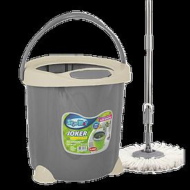 Набор для уборки Planet Spin Mop Joker 15 л серый
